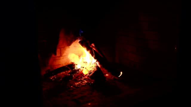 Fire-in-the-fireplace