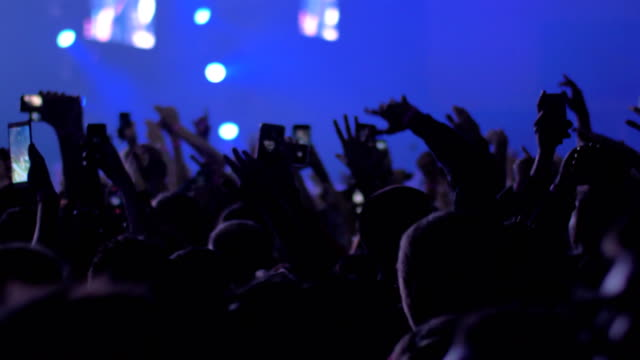 Aficionados-a-la-música-vigorosa-y-emocionado-bailando-en-el-concierto