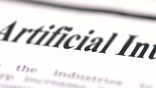 Artificial-Intelligence-written-newspaper-close-up-shot-to-the-text-