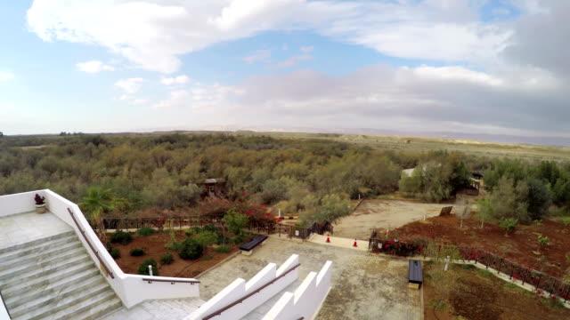 Panorama-of-the-West-Bank-Palestine-view-from-the-baptism-site-of-Jesus-Christ-at-the-River-Jordan-Wadi-Al-Kharrar-Jordan