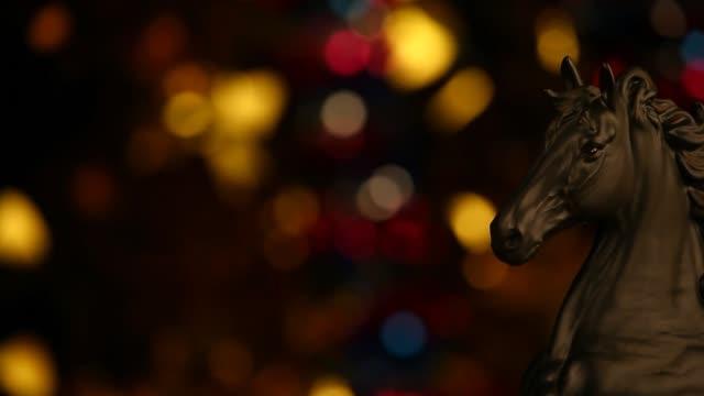 Black-Horse-Gold-Bokeh-Hd-footage