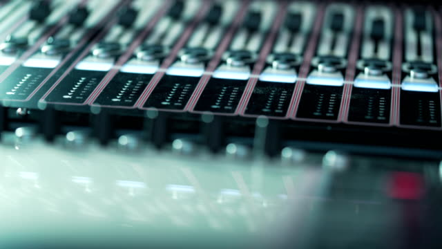 Music-studio-audio-mixer-Digital-display-Club-Zone-Sound-Waves-
