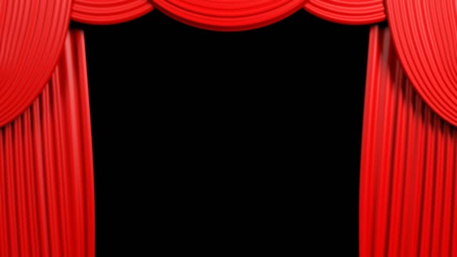 Red-Opening-Curtain-With-Alfa-Background