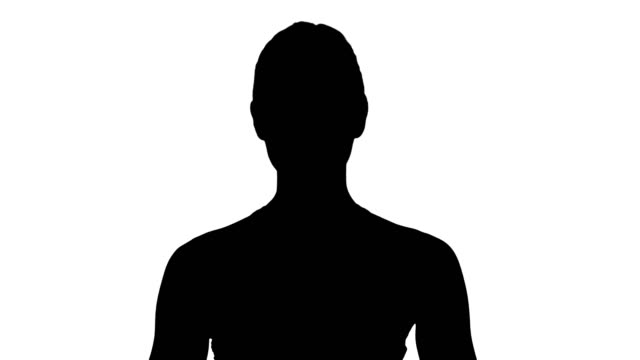 Silhouette-Caucasian-woman-yoga-meditating-sitting-lotus-hands-coupled