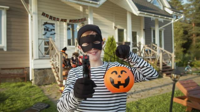 Caucasian-Teenage-Boy-on-Halloween-Party