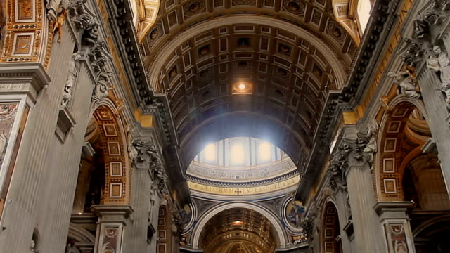 Interior-decoration-of-the-Cathedral-of-San-Petro-in-the-Vatican-Italy