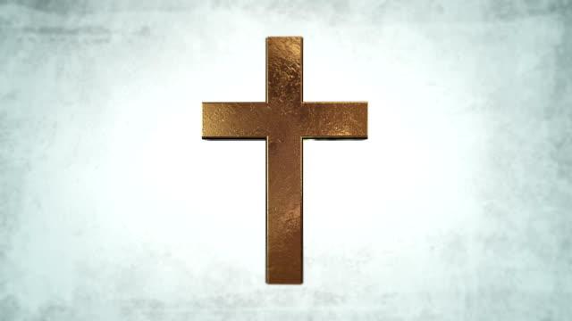Calvary-Gold-cross-of-Christ-light-background
