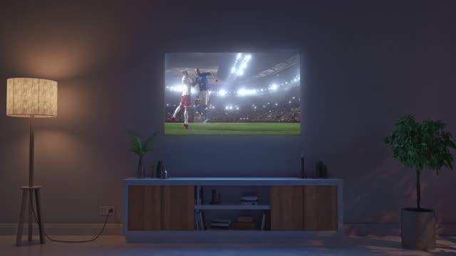 Soccer-game-on-living-room-tv-set