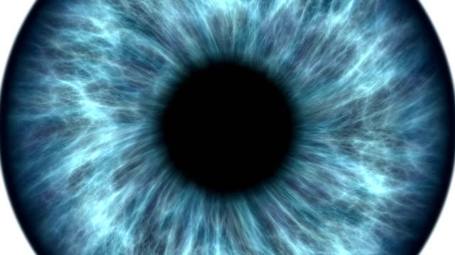 Ojo-humano-azul-dilatar-y-contraer-Muy-detallada-extreme-Close-up-de-iris-y-pupila-