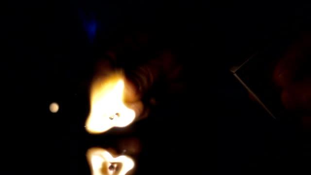 Lighting-a-match-stick-slow-motion