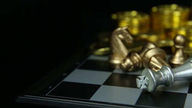 El-tablero-de-ajedrez-abstracto-cerca-material-de-archivo-