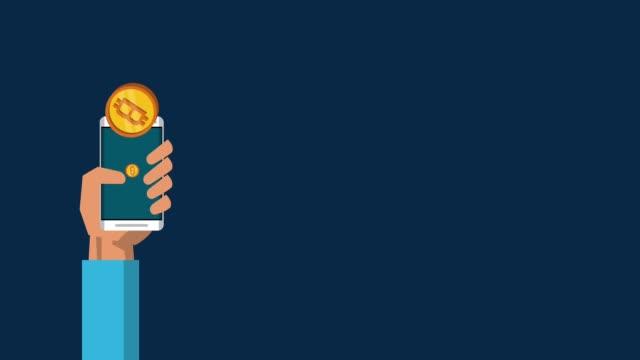 Bitcoin-cryptocurrency-dinero-animación-HD