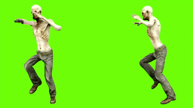 Zombie-dance---seperated-on-green-screen-Loopable-4k-