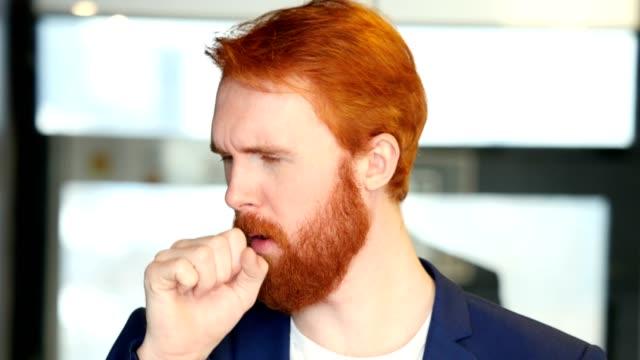 Cough-Sick-Businessman-Portrait