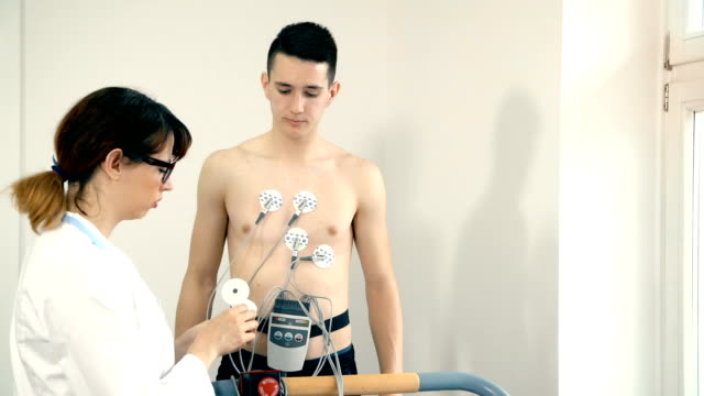 The-patient-makes-electrocardiogram-during-stress-test