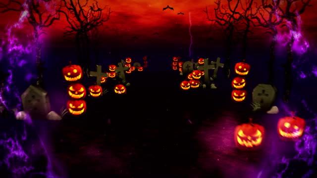 Misteriosa-noche-de-Halloween-calabazas-en-un-místico-bosque-lazo
