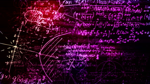 Las-fórmulas-matemáticas-abstractas-se-mueve-en-el-espacio-virtual-bucle