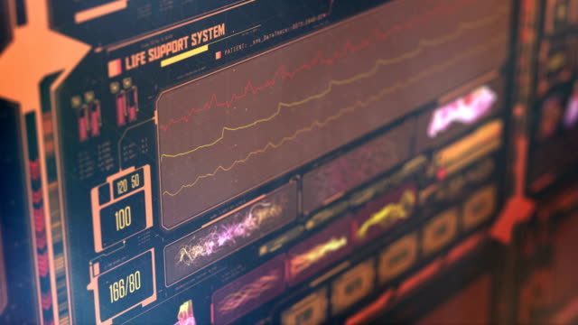 Paciente-muere-monitor-futurista-de-ICU-signos-vitales-cayendo-insuficiencia-cardíaca