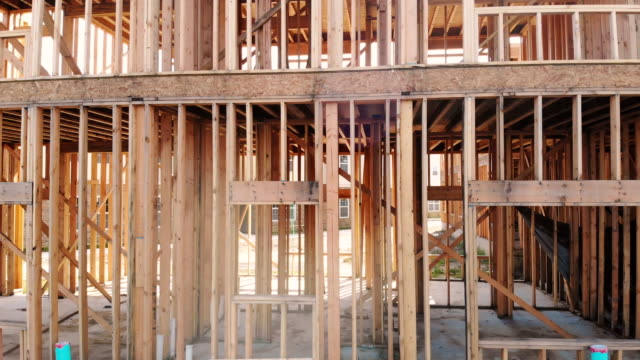 Framed-New-Construction-of-beam-construction-building-a-new-house-from-the-ground-up