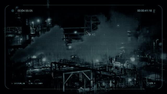 CCTV-instalación-Industrial-de-fumar-por-la-noche