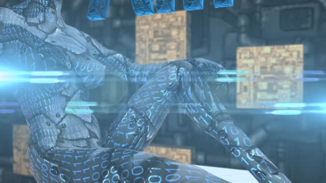 Humanoid-robot-cyborg-technology-of-AI-Artificial-intelligence