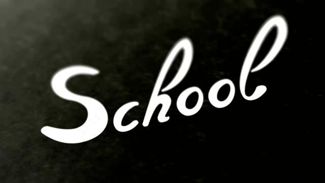 """""""Escuela""""-en-la-página-Colocación-de-material-de-archivo-tiene-4K-de-resolución-"""