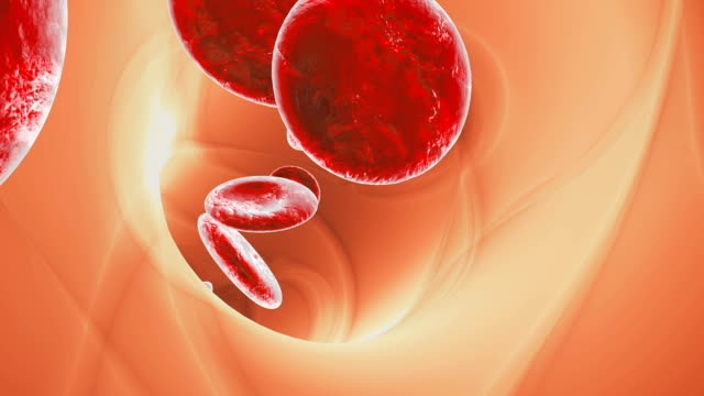 Blood-cells-traveling-through-a-vein