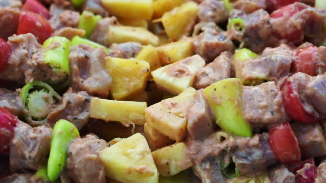pork-with-vegetavble-on-skewers-prepare-for-BBQ