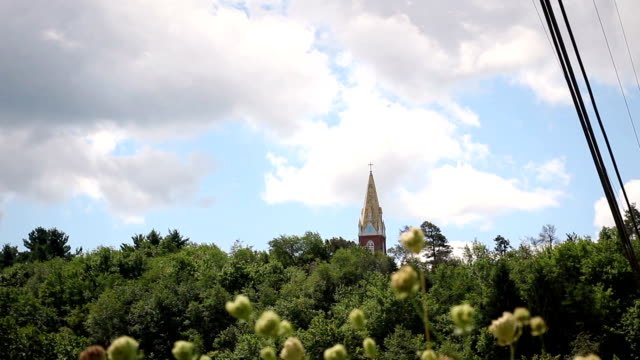 Afternoon-Timelapse-of-a-Church-Bell-tower-in-Suburban-America
