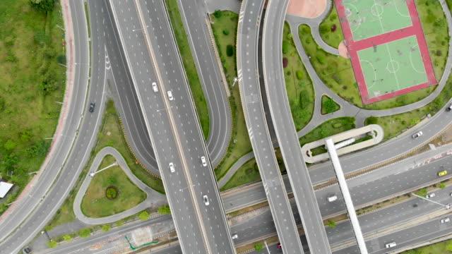 Aerial-view-of-highway-interchange