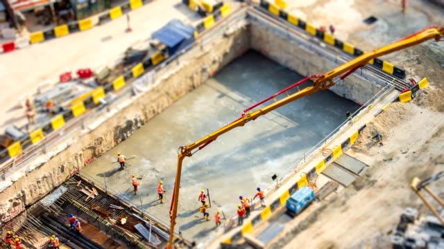 Aerial-Big-Construction-Site-Working-4K-Time-Lapse-Tilt-Shift