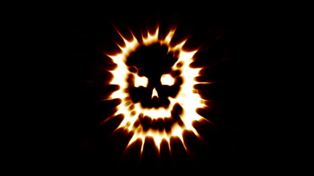 A-flaming-spooky-skull-engulfed-in-flames-