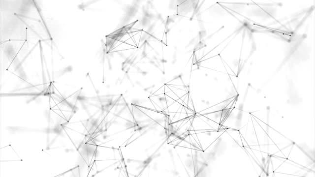 Plexo-gris-negro-abstracto-virtual-con-partículas-compuestos-de-estructura-genética-y-química-Espacio-y-las-constelaciones-Concepto-de-ciencia-y-de-la-conexión-Fondo-de-lazo-de-conexión-de-red-social