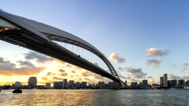 4K-Time-lapse-(Zoom-in)---Modern-bridge-in-Shanghai-China-(LuPu-bridge)