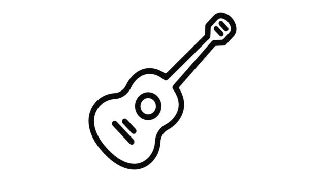 Guitarra-línea-Motion-Graphic