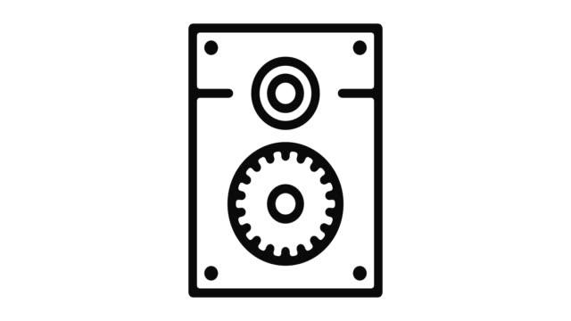 Altavoz-línea-Motion-Graphic