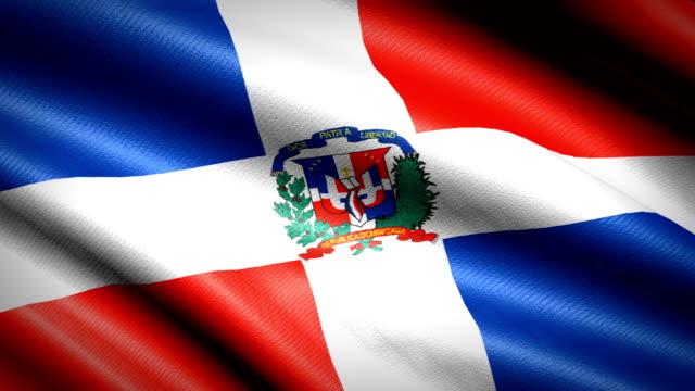 Bandera-de-República-Dominicana-Animación-bucle-sin-fisuras-4K-Video-de-alta-definición