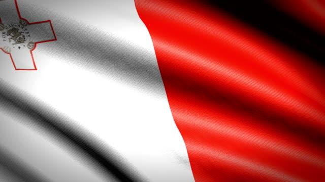 Malta-Flag-Seamless-Looping-Animation-4K-High-Definition-Video