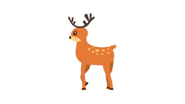 Cartoon-deer-walking-animation-with-optional-luma-matte-Alpha-Luma-Matte-included-4k-video