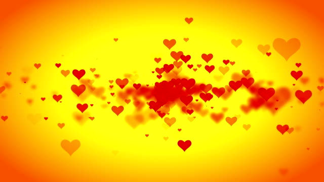 Animated-valentine-hearts-on-Yellow-background