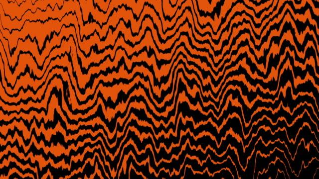 4k-Orange-Tiger-Wave-Line-Movement-Animation-Background-Seamless-Loop-