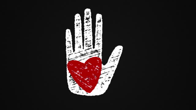 heart-on-hand-painted-with-chalk-on-a-blackboard-hand-drawn-animation-4K