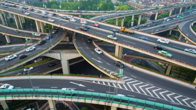 Shanghai-city-transportation-time-lapse