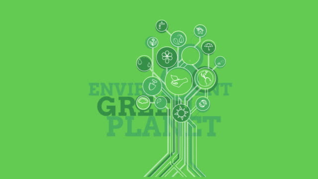 Ecological-Icons-Tree-Environment-Green-Planet-4K