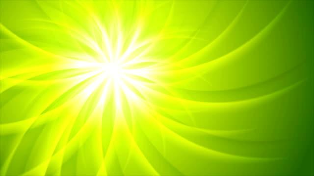 Green-shiny-beams-pattern-video-animation