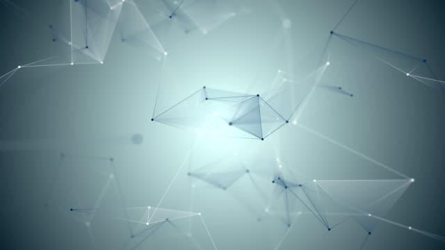 abstracta-fondo-geométrico-azul-con-puntos-y-líneas