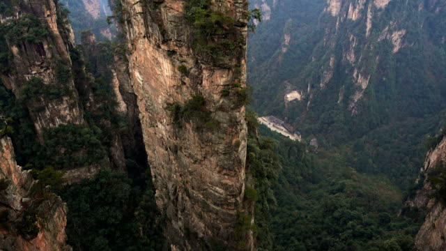 Observation-elevator-at-mountain-of-Zhangjiajie-national-park-China