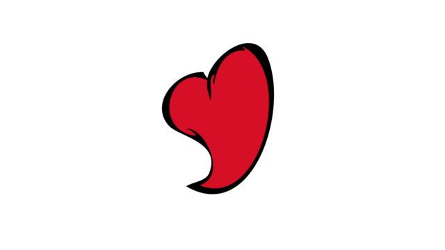 día-de-San-Valentín-rojo-moderno-anitation-o-8-de-marzo-de-corazones-sobre-fondo-blanco