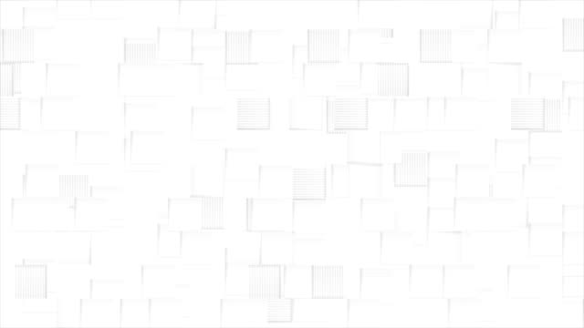 Abstract-grey-animated-squares-on-white-background