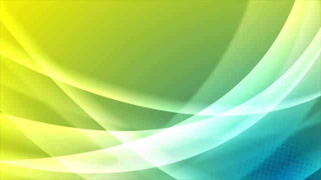 Video-animación-de-ondas-luminosas-azules-y-amarillas